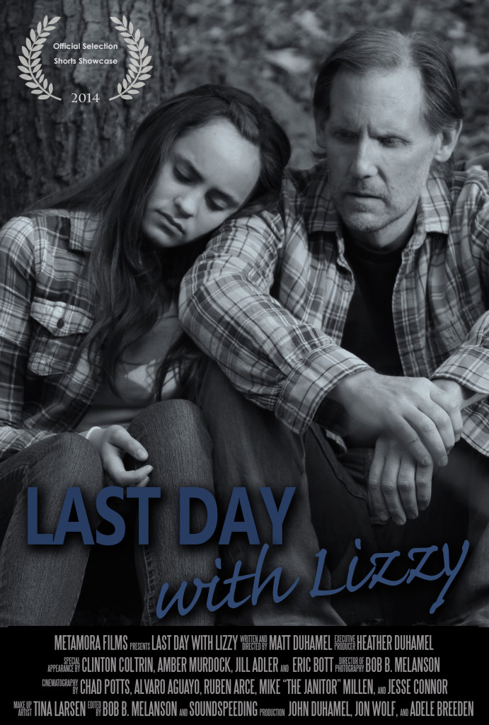 filmposter withlaurals 691x1024 Last Day with Lizzy (2014) short film review