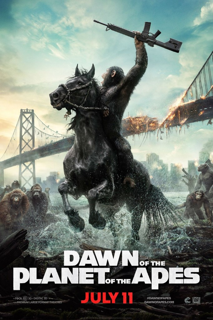 dawn of apes teaser poster 682x1024 Dawn of the Planet of the Apes review (2014)