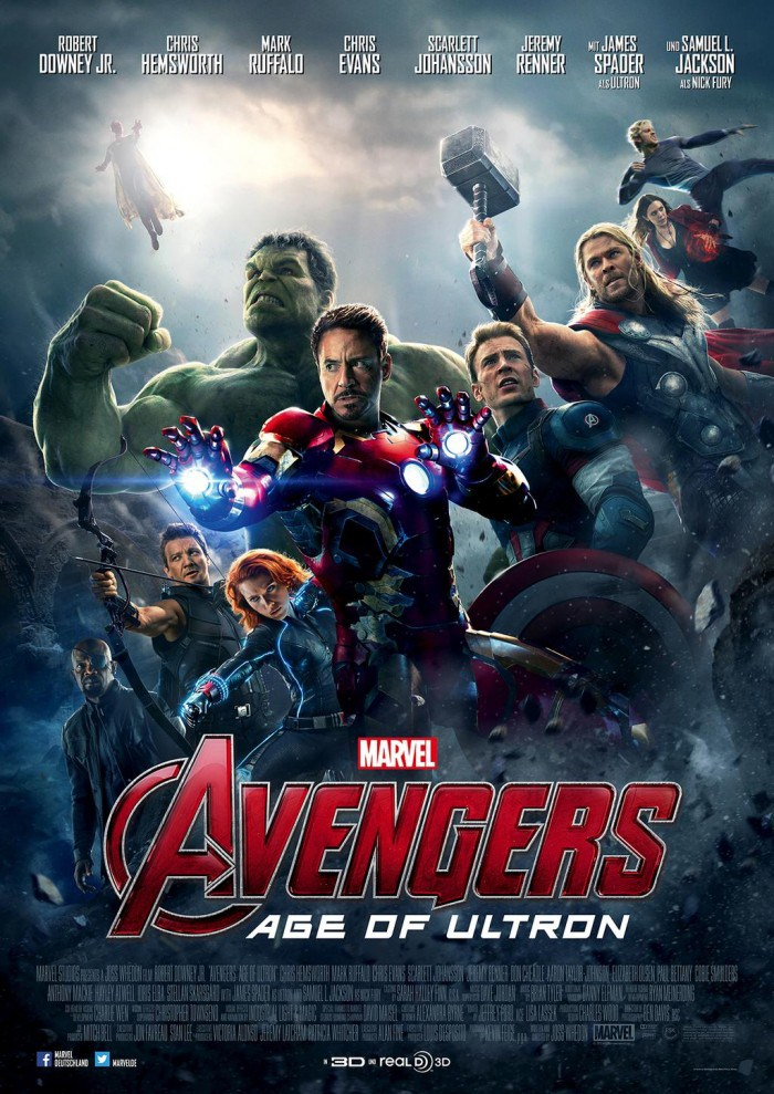 avengers age of ultron poster Avengers: Age of Ultron review (2015)