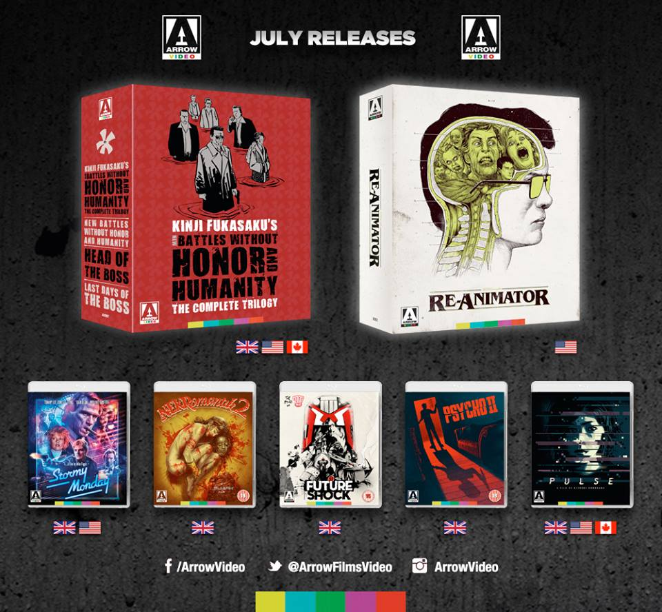 arrow july releases Arrow Video announce July 2017 releases